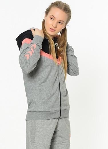 Hummel Kapüşonlu Fermuarlı Sweatshirt Renkli